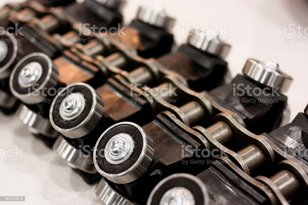 Chain and Bearings Detail Shot Focus royalty-free stock photo