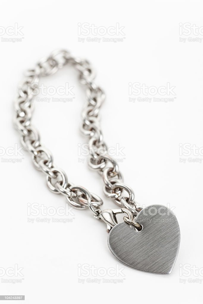 Chain and Heart Shape royalty-free stock photo