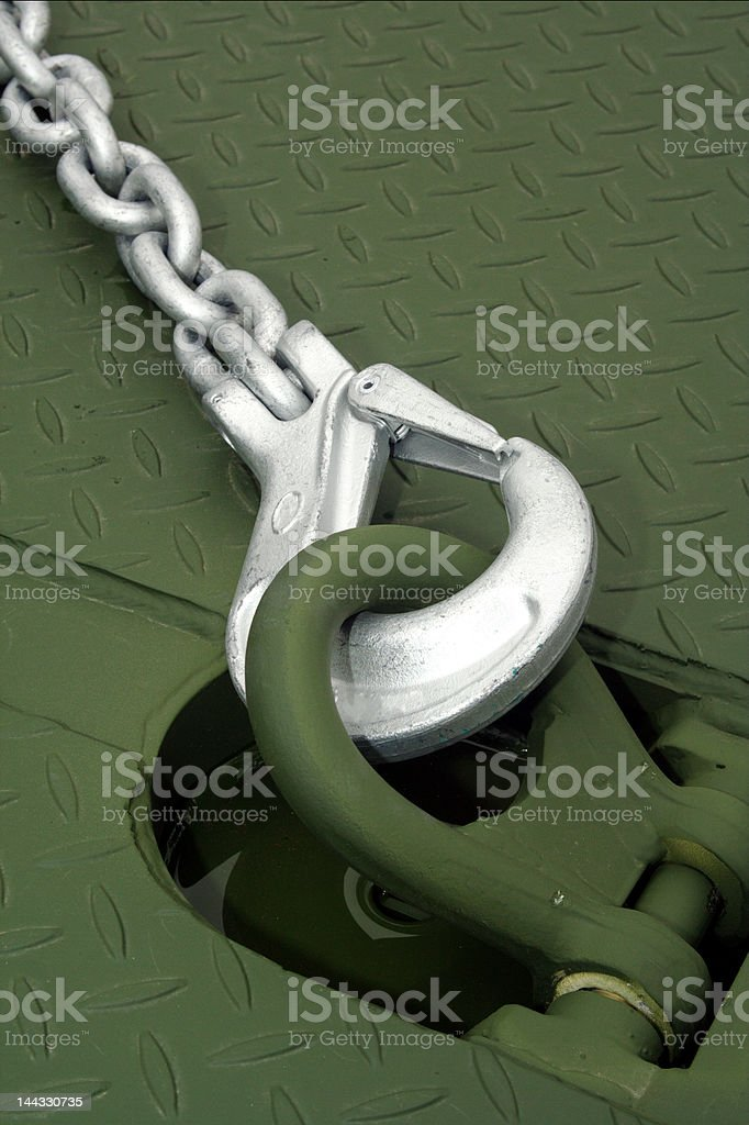 Chain and hook royalty-free stock photo