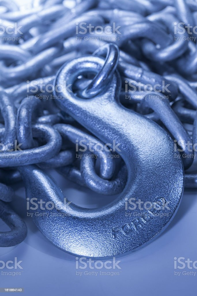 chain and hook stock photo