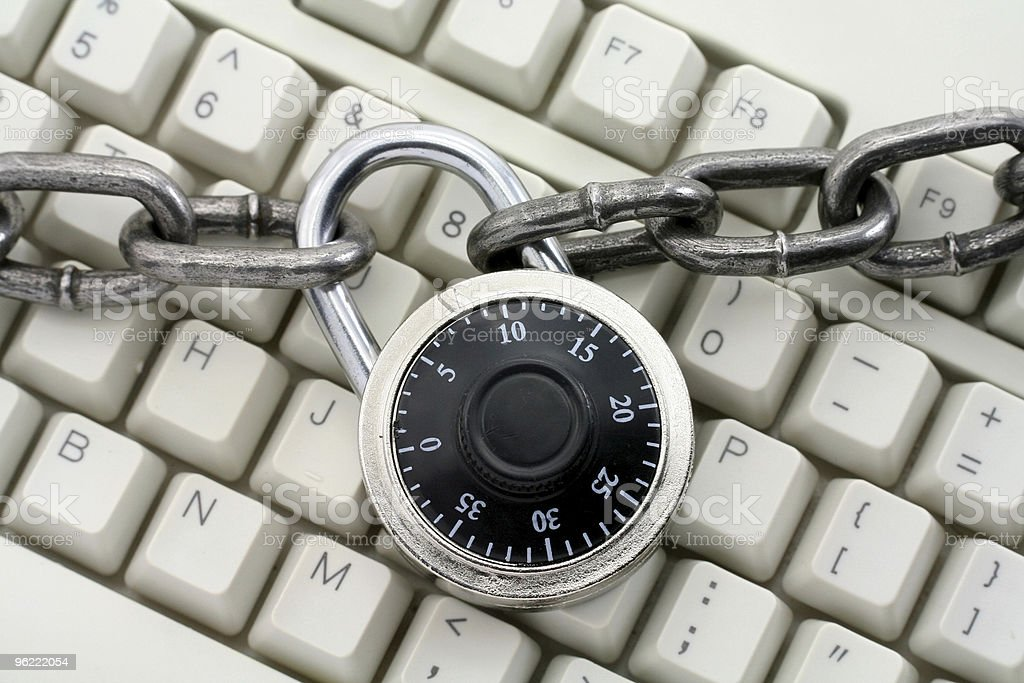 chain and keyboard royalty-free stock photo