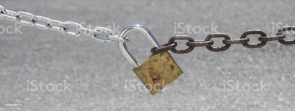 Chain and padlock royalty-free stock photo