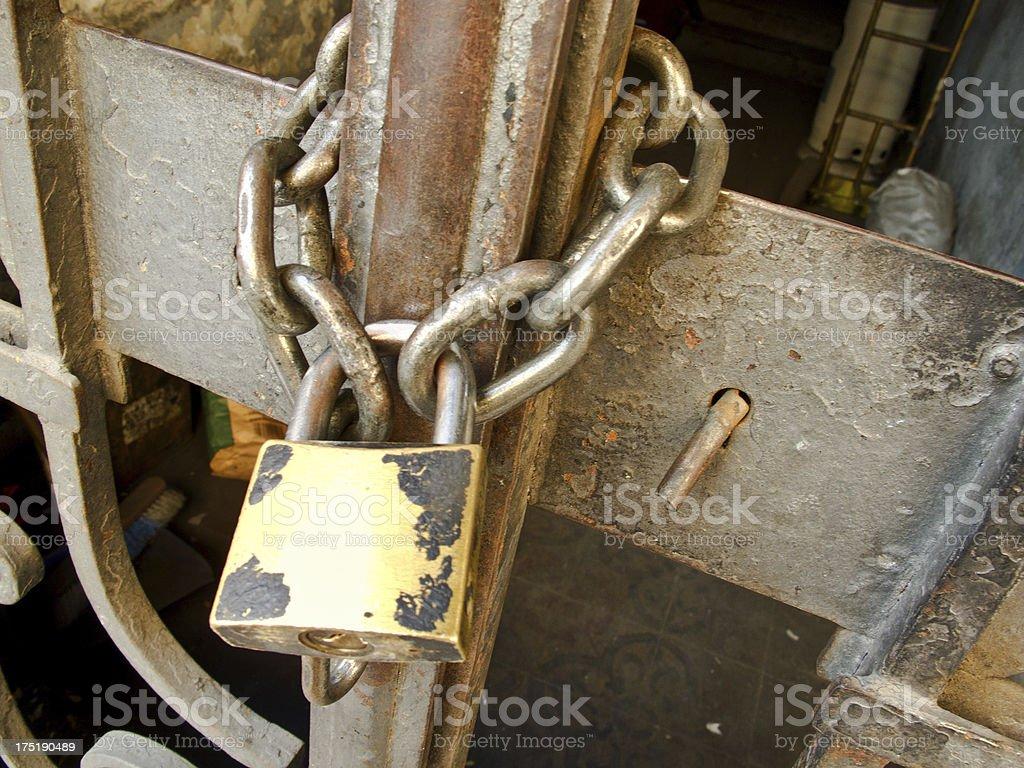 chain and padlock stock photo