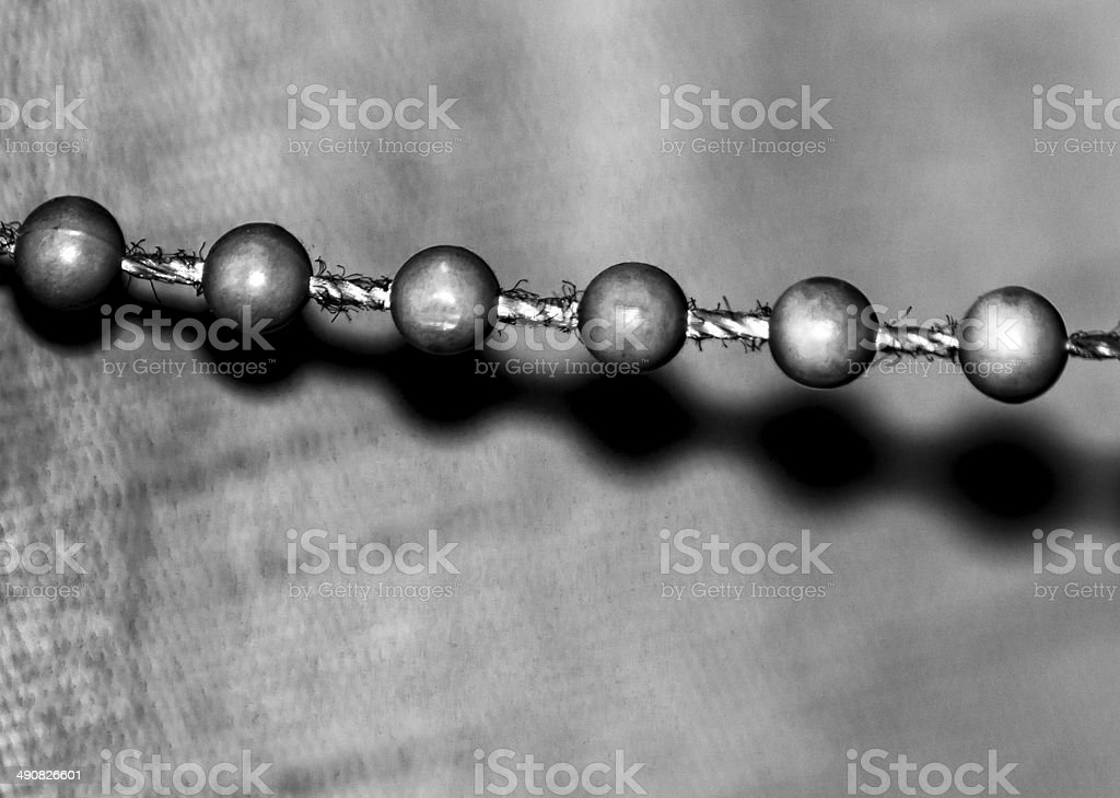 Chain and shadows stock photo