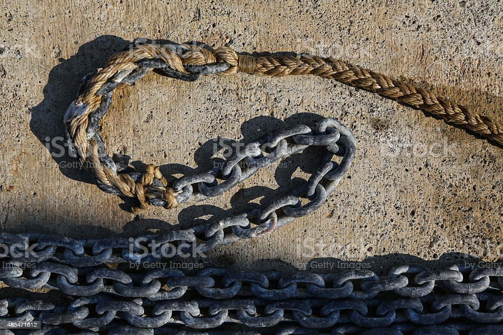 Chain and the Rope stock photo