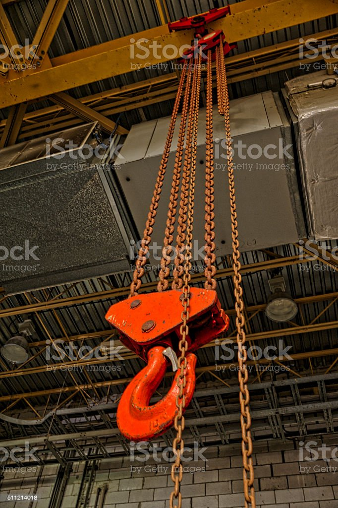 Chain block stock photo