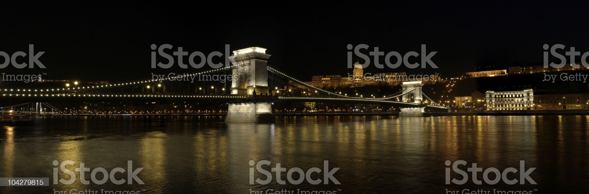 Chain Bridge and Royal palace royalty-free stock photo