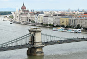 Chain Bridge and the parliament building, Budapest