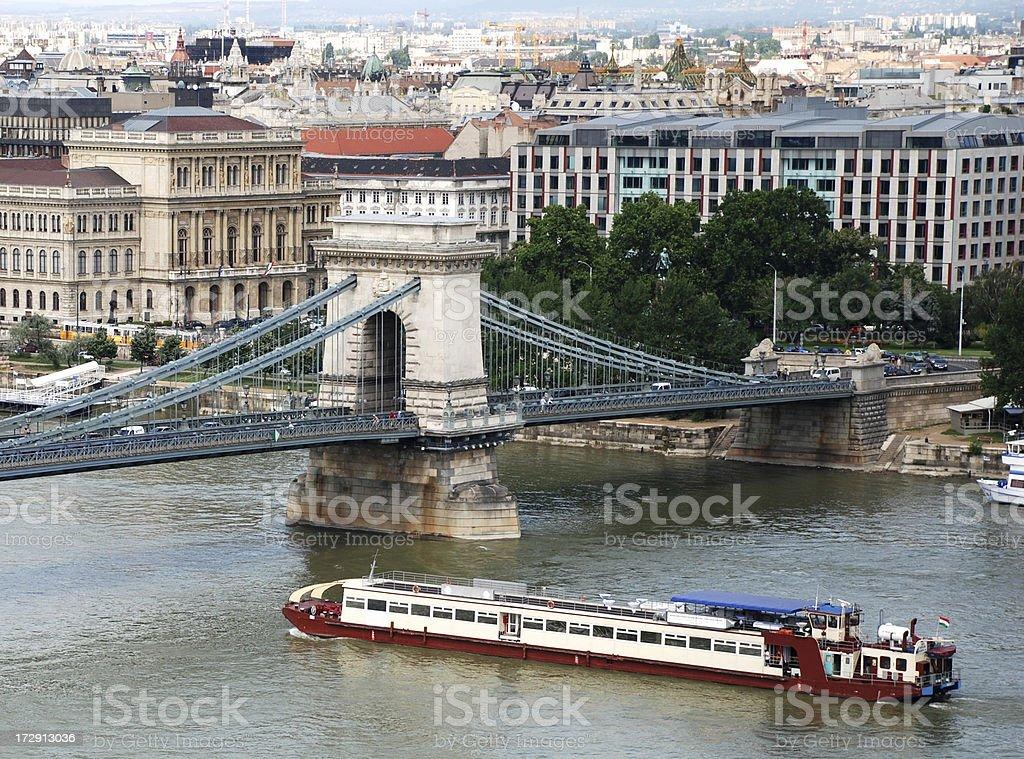 Chain bridge at Budapest royalty-free stock photo