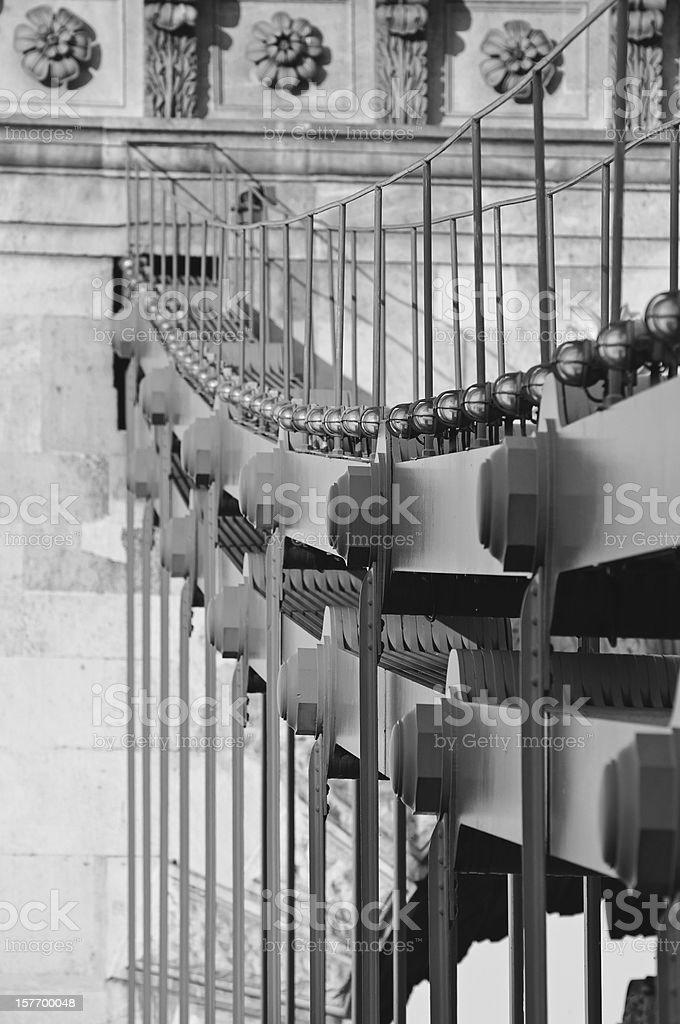Chain Bridge black&white royalty-free stock photo