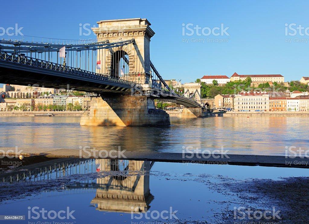 Chain Bridge - Budapest at day stock photo