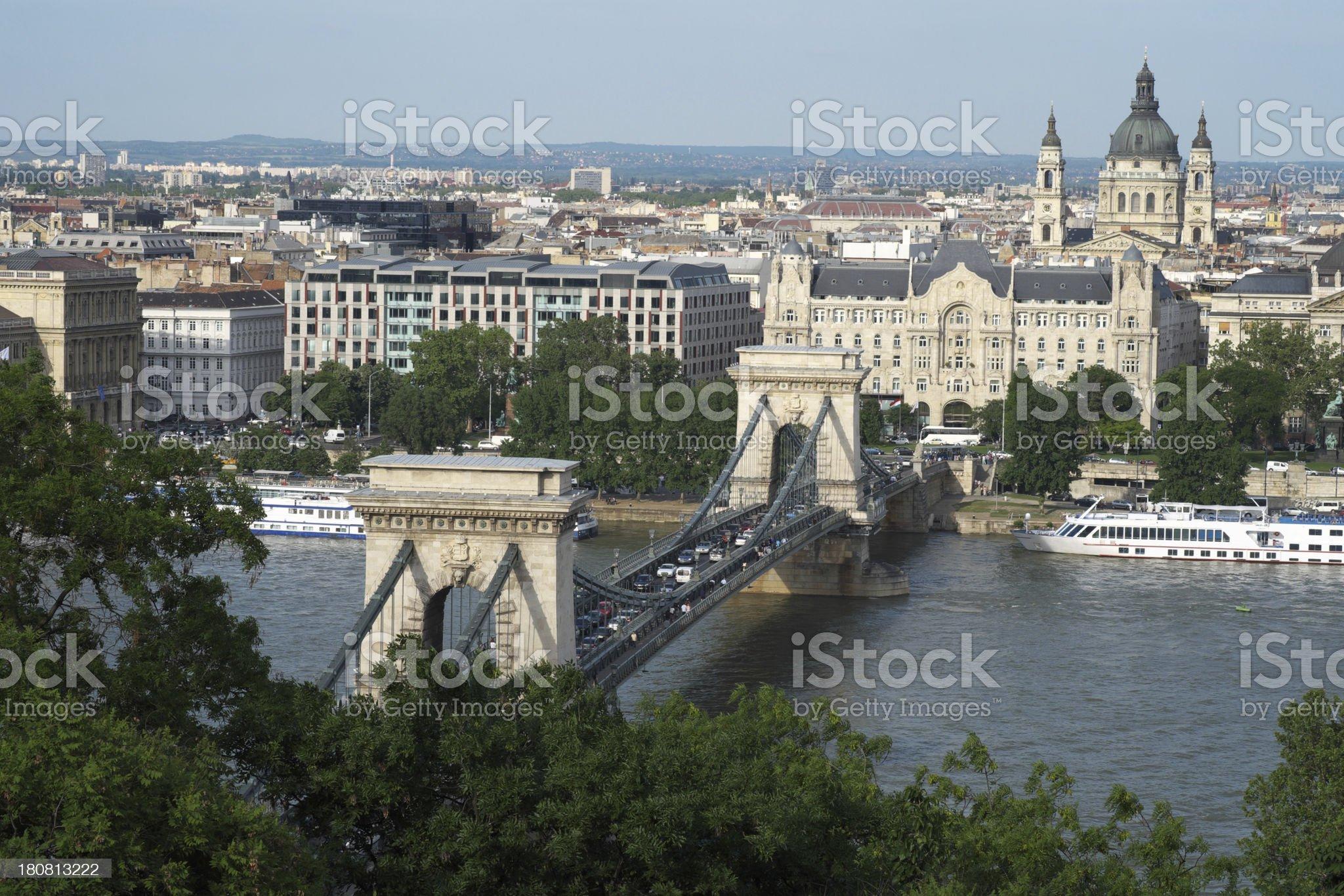 Chain Bridge, Budapest, Hungary royalty-free stock photo