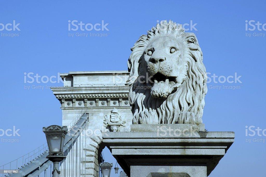 Chain Bridge, Budapest, Hungary. royalty-free stock photo