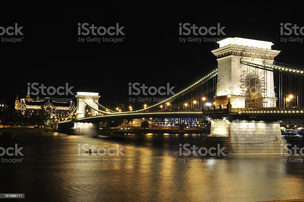 Chain Bridge Budapest royalty-free stock photo