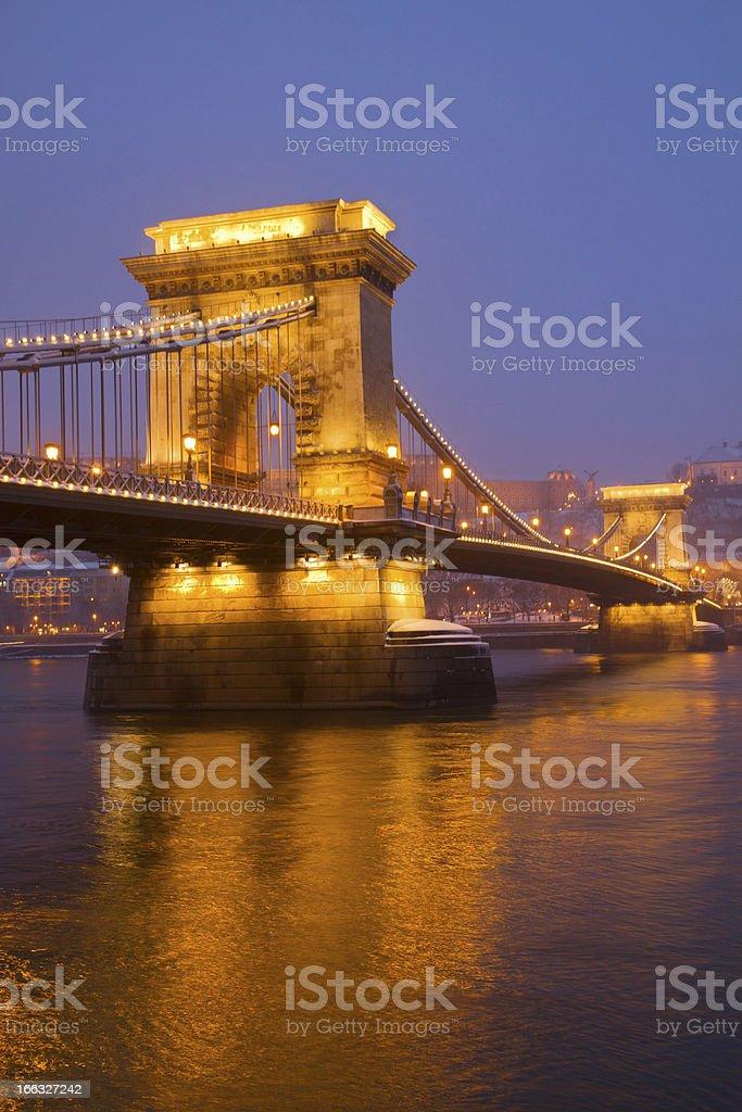 Chain Bridge (Szechenyi lanchid), Budapest royalty-free stock photo