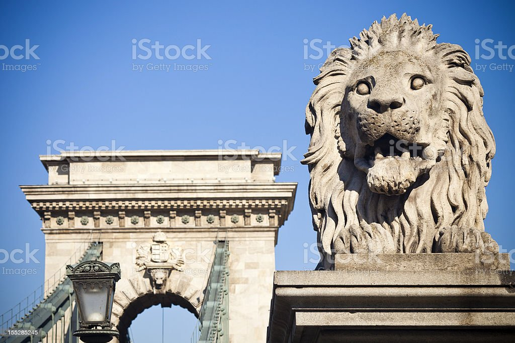 Chain Bridge In Budapest, Hungary royalty-free stock photo