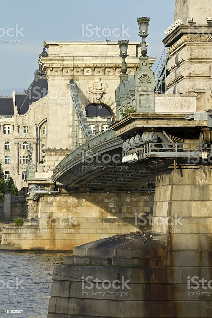 Chain Bridge in Budapest royalty-free stock photo
