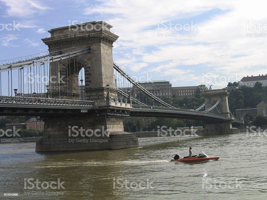 Chain Bridge of Budapest royalty-free stock photo