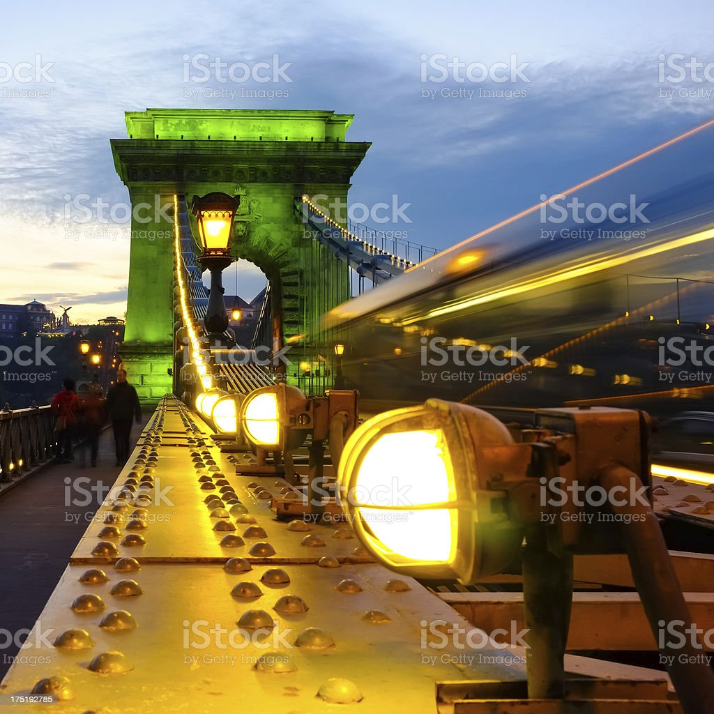 Chain bridge royalty-free stock photo