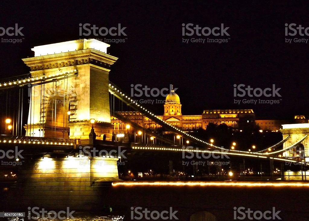 Chain Bridge stock photo