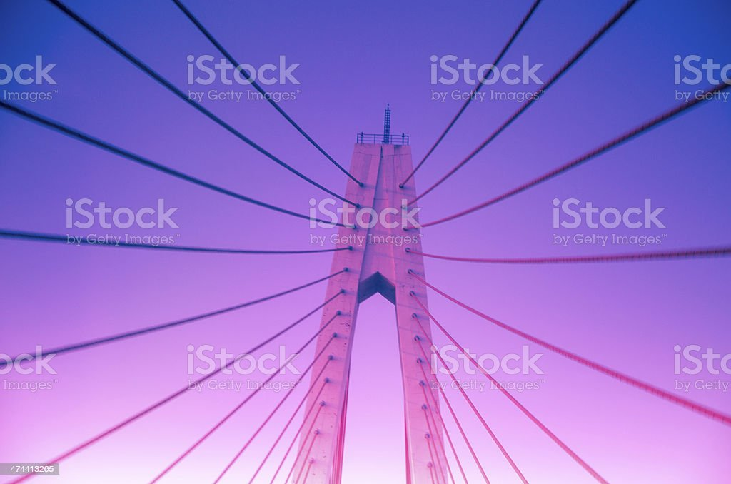 Chain bridge, radiated futtock shrouds stock photo
