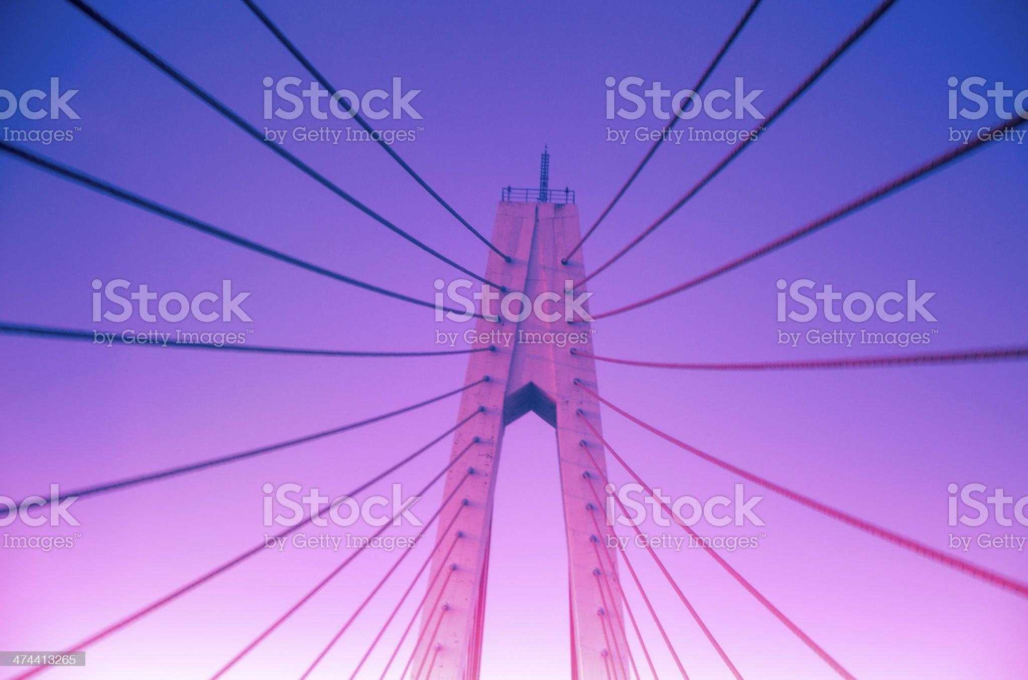 Chain bridge, radiated futtock shrouds royalty-free stock photo