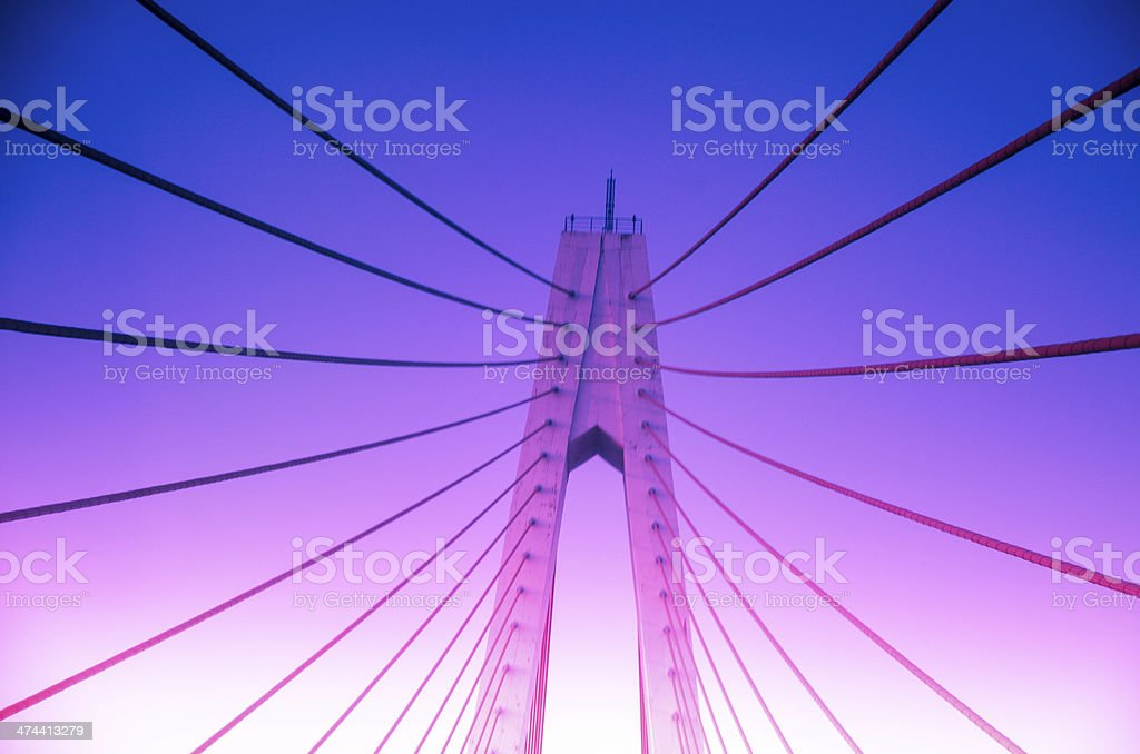 Chain bridge, radiated futtock shrouds royalty-free stock photo