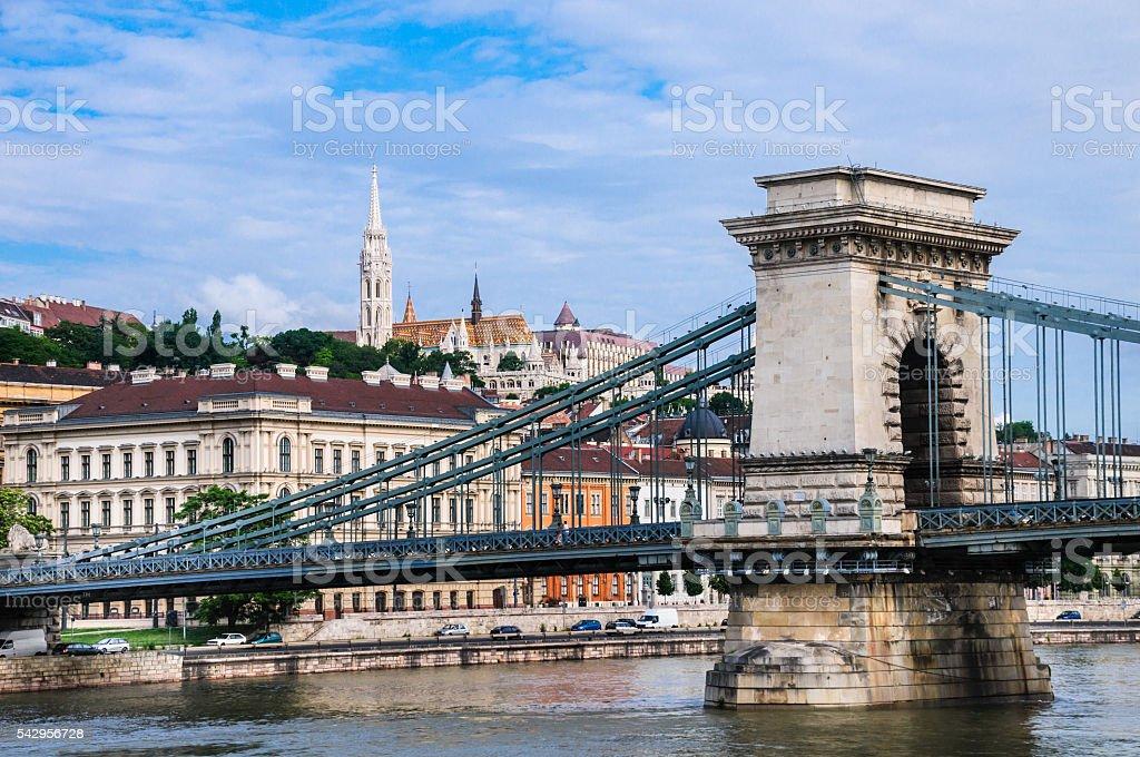 Chain Bridge-Budapest stock photo