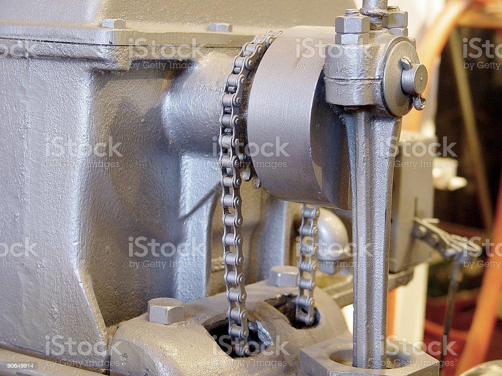 chain driven piston royalty-free stock photo