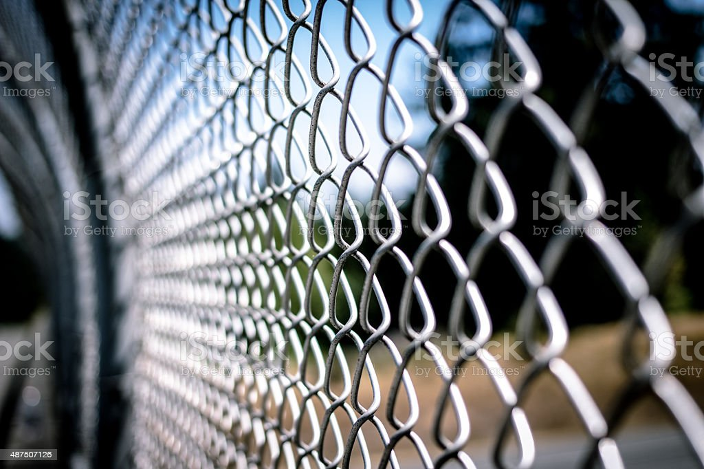 Chain Fence stock photo