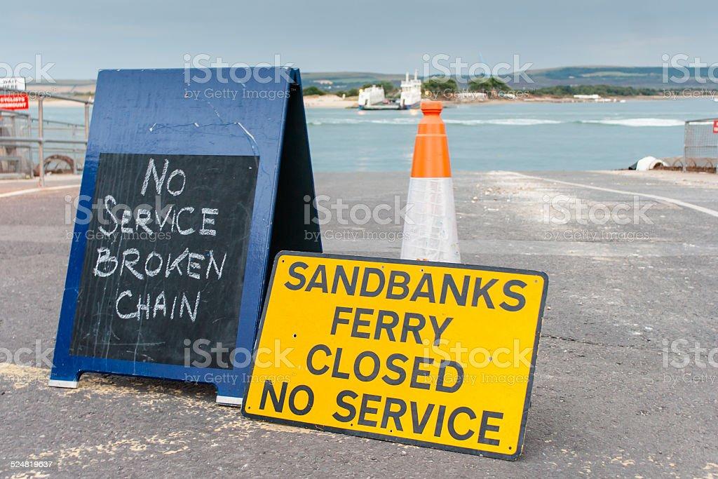 Chain ferry stock photo