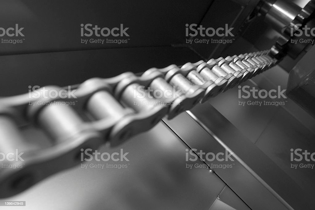 Chain for industrial stock photo