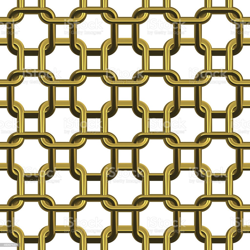 Chain Golden - Seamless Texture royalty-free stock photo
