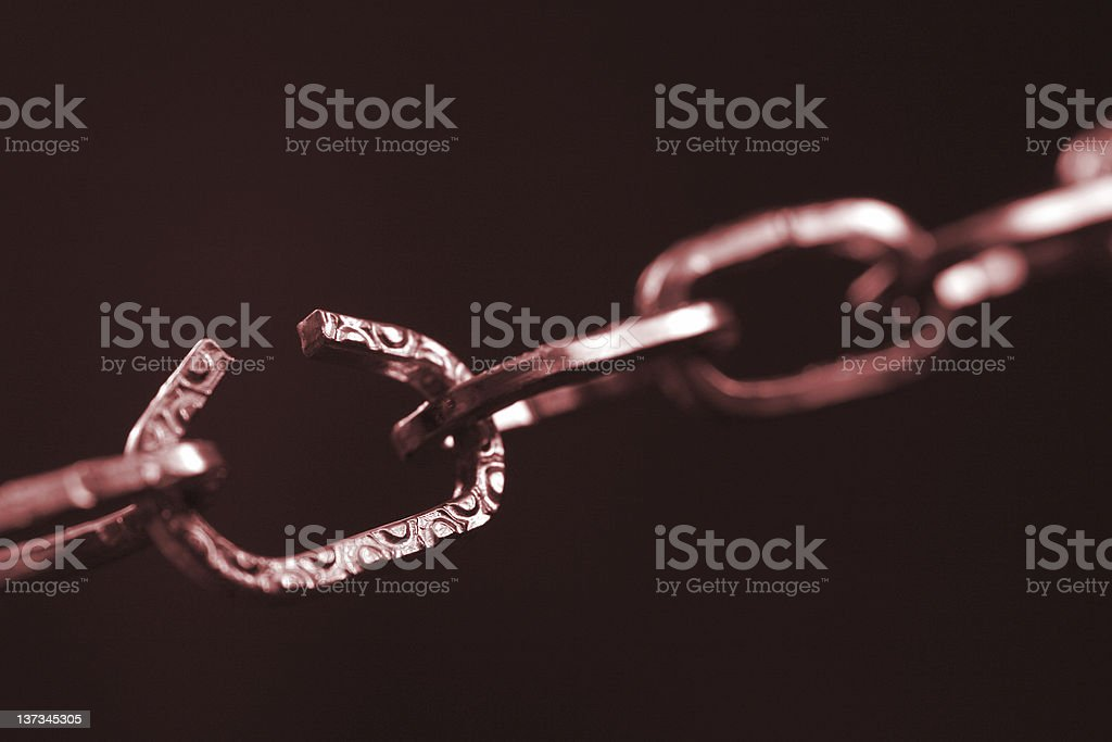 Chain in red royalty-free stock photo