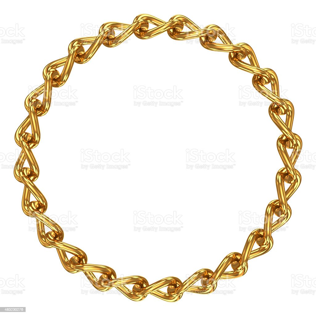 Chain in shape of circle stock photo