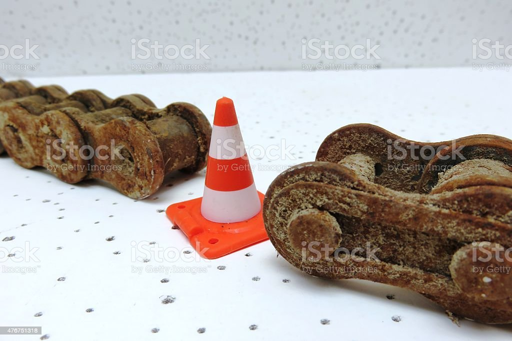 Chain Is As Strong As Its Weakest Link stock photo