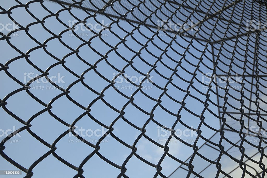 Chain Link Baseball Backstop, Background, Close-up royalty-free stock photo