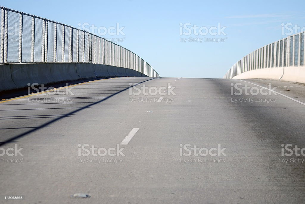 Chain Link Fence and Bridge royalty-free stock photo
