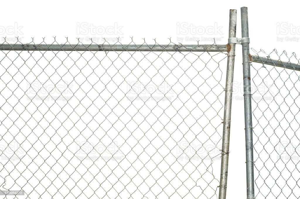 Chain Link Fence royalty-free stock photo