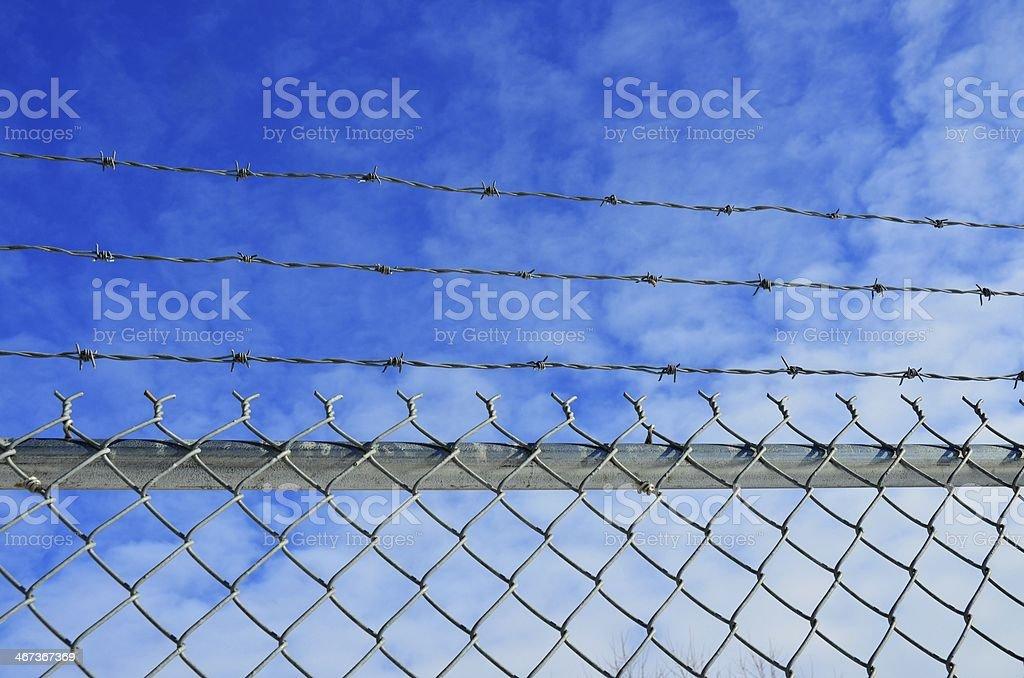 Забор из звеньев Стоковые фото Стоковая фотография
