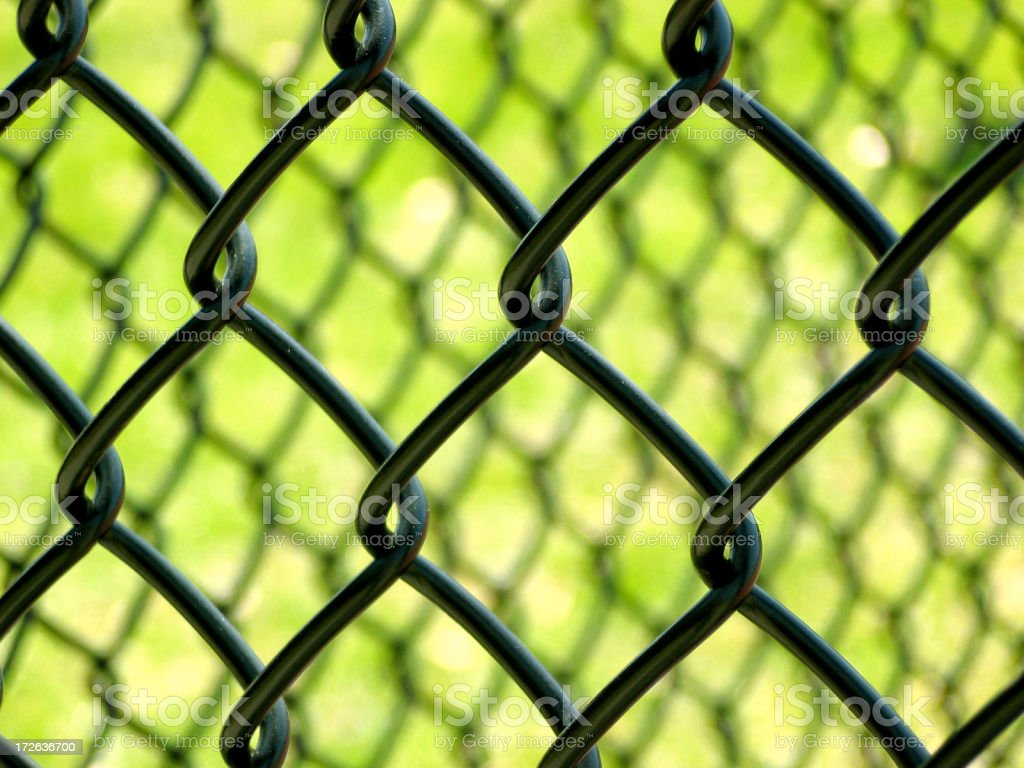 Chain Link on green stock photo