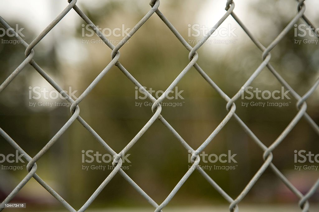 Chain Linked Fence stock photo
