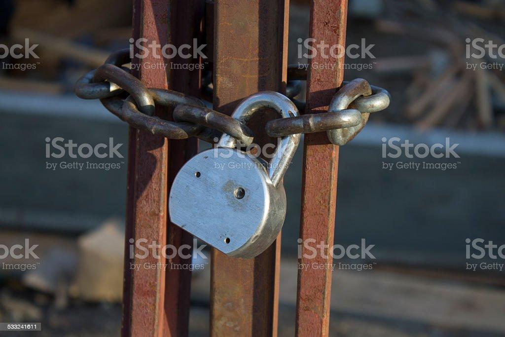 Chain Lock stock photo