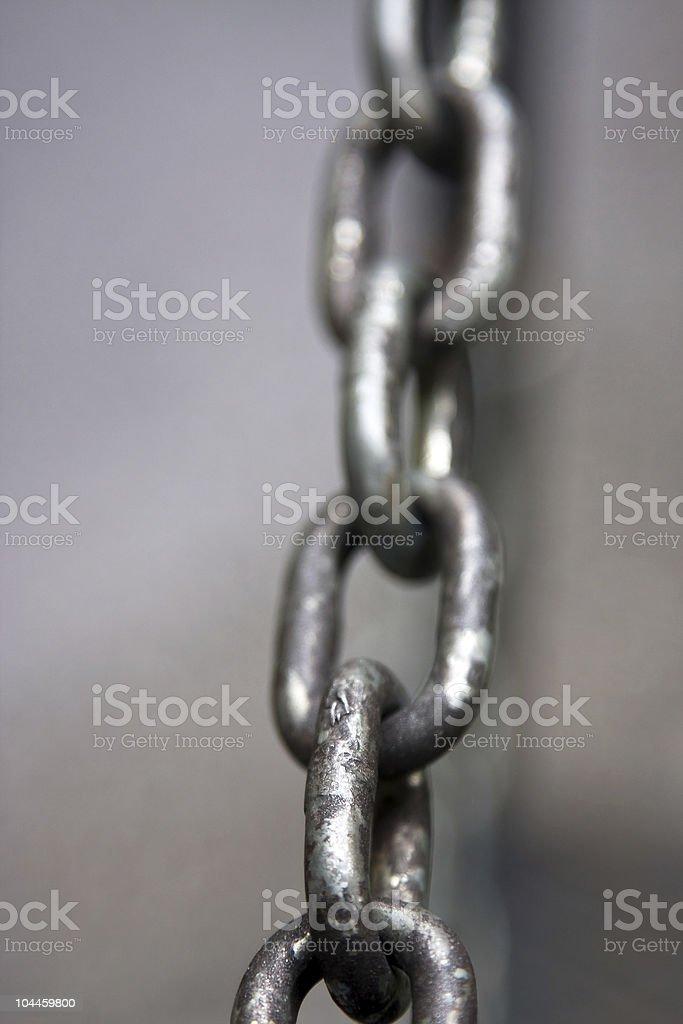 Chain macro royalty-free stock photo
