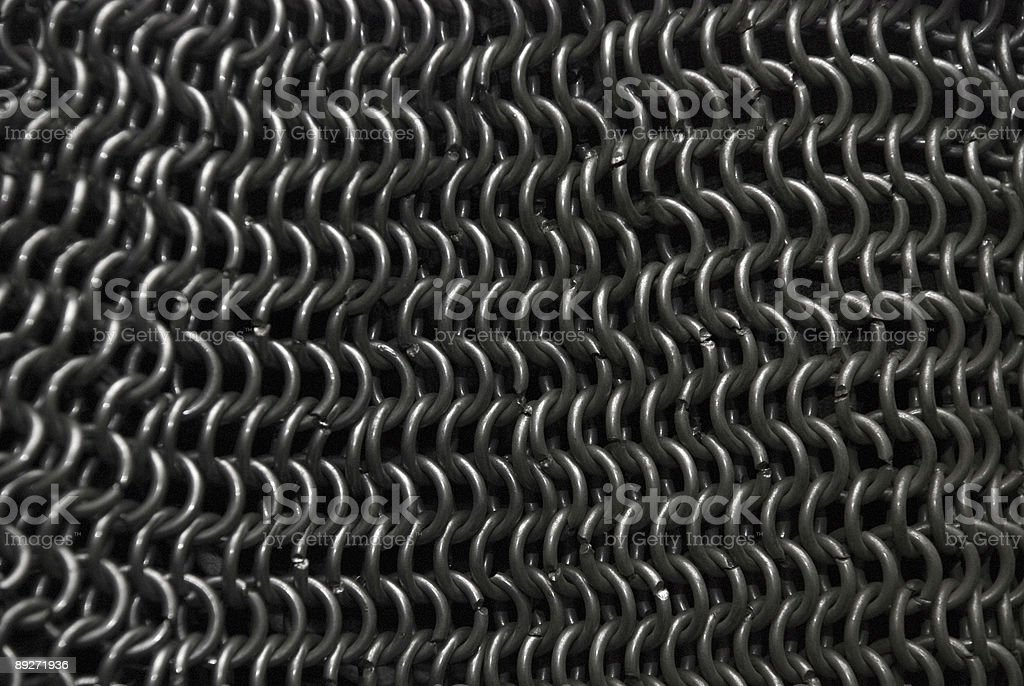 Chain mail. Iron armour. stock photo