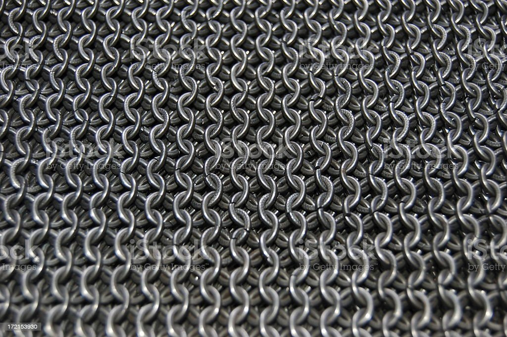Chain Mail Links. stock photo