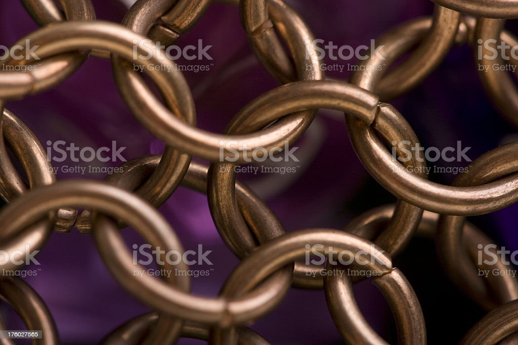 Chain Mail links stock photo