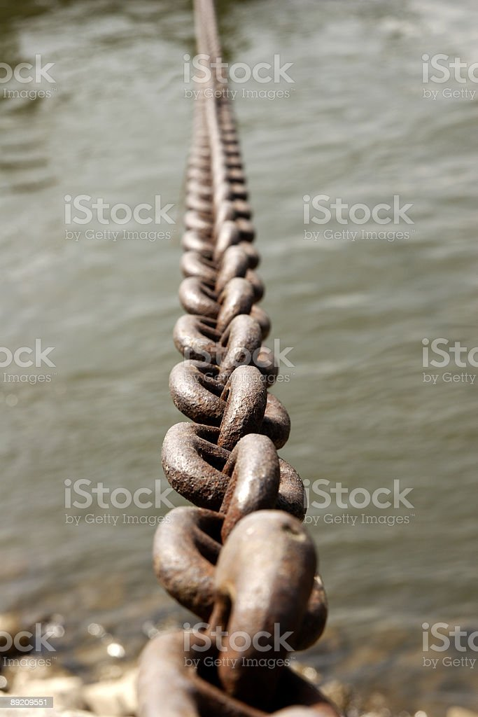 chain mooring ship royalty-free stock photo