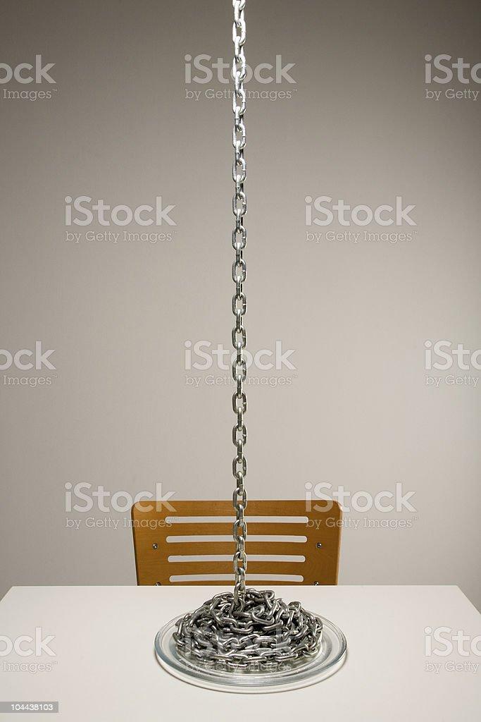 Chain Noodle spaghetti stock photo