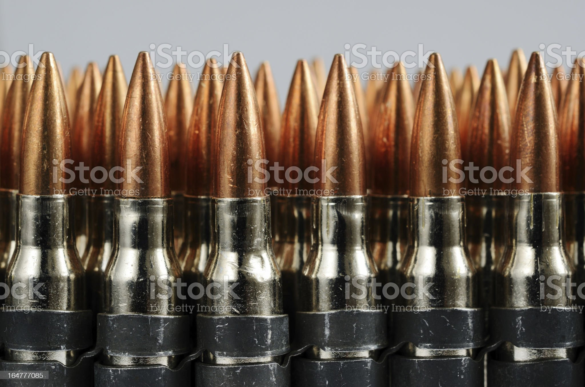 chain of bullets over white, horizontal royalty-free stock photo